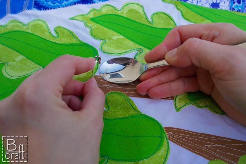 Spinanie quiltu łyżeczką
