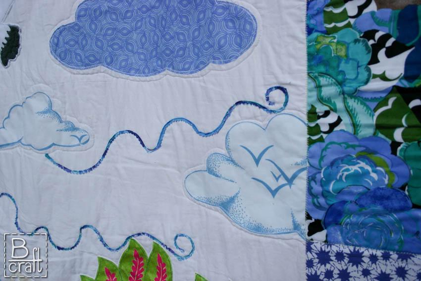 Wedding quilt details