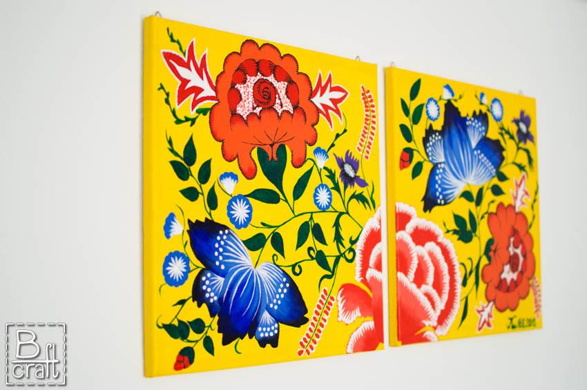 Art quilt z sarną -obraz