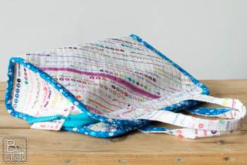 Torba z brzegów fabrycznych tkanin